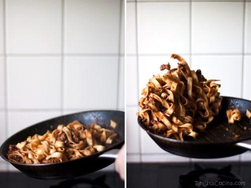 pasta a la boloñesa receta